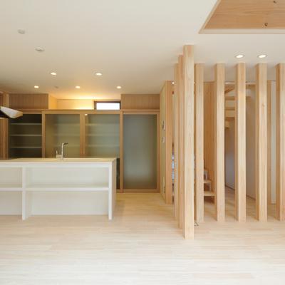 新築事例21-S邸~構造の柱を活かし木のぬくもりを感じる家~